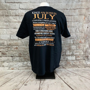 Fruit of the Loom Mens Tee Size L July Birthday